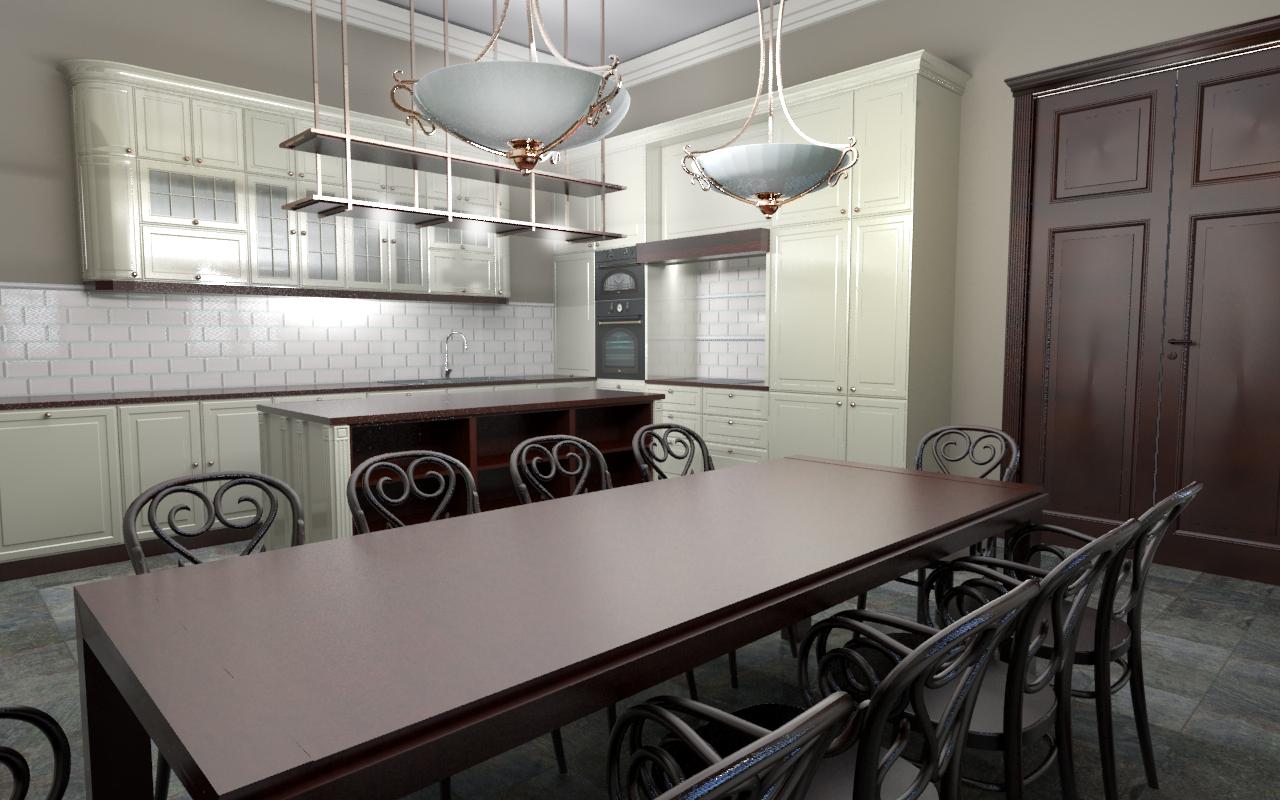 Projekt kuchni we dworze